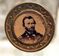 Ulysses S. Grant presidential campaign pin at his NHS. St. Louis, MO.