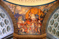 Pioneers dome mural by Frank Brangwyn at Missouri State Capitol. Jefferson City, MO.