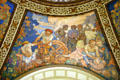 Science rotunda mural by Frank Brangwyn at Missouri State Capitol. Jefferson City, MO.