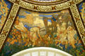 Art rotunda mural by Frank Brangwyn at Missouri State Capitol. Jefferson City, MO.