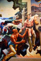 Detail of French trading with Osage Indians on Social History of Missouri mural by Thomas Hart Benton at Missouri State Capitol. Jefferson City, MO.