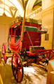 Concord-style mail coach in History Hall at Missouri State Capitol. Jefferson City, MO.