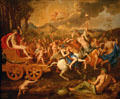 Triumph of Bacchus painting by Nicolas Poussin at Nelson-Atkins Museum. Kansas City, MO.