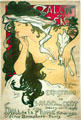 Salon des Cent/XXme Exposition poster by Alphonse Mucha at Nelson-Atkins Museum. Kansas City, MO.