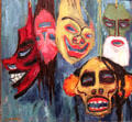 Masks painting by Emil Nolde at Nelson-Atkins Museum. Kansas City, MO.