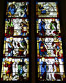 Apostles & Prophets with Creeds stained glass window from France or Germany at Nelson-Atkins Museum. Kansas City, MO.