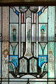 Stained glass window of angels at Thomas Hart Benton Home. Kansas City, MO.