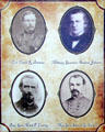 Clark Barteau, Andrew Johnson, Mark P. Lowrey & Samuel G. French - Confederate leader photos at Jefferson Davis presidential library at Beauvoir. Biloxi, MS.