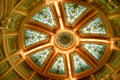 Stained glass domed skylight in House of Representatives of Mississippi State Capitol. Jackson, MS