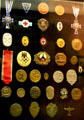 Collection of Nazi medal & commemorative pins at Armed Forces Museum. Hattiesburg, MS.