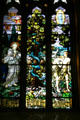 Garden of Eden stained glass window of Cathedral of Saint Helena. Helena, MT.