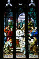 Biblical scene stained glass window of Cathedral of Saint Helena. Helena, MT.