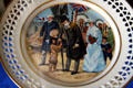 China plate painted with Buffalo Bill meeting King Edward VII in London at Scout's Rest. North Platte, NE.