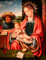 Holy Family painting by Joos van Cleve of Antwerp at Currier Museum of Art. Manchester, NH.