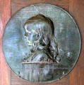 William Evarts Beaman, son of Charles & Hettie, bronze portrait relief by Augustus Saint-Gaudens at Saint-Gaudens NHS. Cornish, NH.