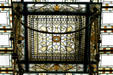 Stained glass skylight in House chamber of New Jersey Capitol. Trenton, NJ.