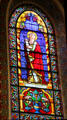 St. Simon stained glass window in St. Francis Cathedral. Santa Fe, NM.