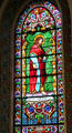 St. Phillip stained glass window in St. Francis Cathedral. Santa Fe, NM.
