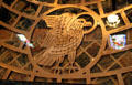 Winged eagle of Evangelist St. John in font of St. Francis Cathedral. Santa Fe, NM.
