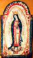 Spanish painted icon of Nuestra Señora de Guadalupe at New Mexico History Museum. Santa Fe, NM.