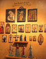 Spanish religious icon paintings & carvings by José Rafael Aragón at New Mexico History Museum. Santa Fe, NM.