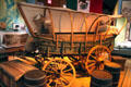 Reproduction of covered wagon at New Mexico History Museum. Santa Fe, NM.