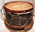 Confederate snare drum from Battle of Glorieta Pass at New Mexico History Museum. Santa Fe, NM.