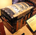 Travel trunk at New Mexico History Museum. Santa Fe, NM.
