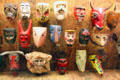 Collection of Mexican & other masks in Girard wing at Museum of International Folk Art. Santa Fe, NM.