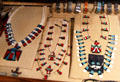 Indian jewelry in shop at Wheelwright Museum of the American Indian. Santa Fe, NM.