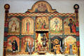 Reredos in Golondrinas Chapel at Rancho de las Golondrinas. Santa Fe, NM.