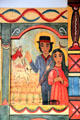 St. Isidore & St. Mary by Irene Martinez-Yates on Reredos in Golondrinas Chapel at Rancho de las Golondrinas. Santa Fe, NM.