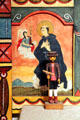 St. Paschal by Jacobo de la Serna on Reredos in Golondrinas Chapel at Rancho de las Golondrinas. Santa Fe, NM.