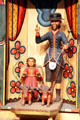 Bulto of St, Isidore by Alcario Otero in Golondrinas Chapel at Rancho de las Golondrinas. Santa Fe, NM.