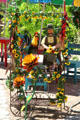 Decorated stand on Old Town Square. Albuquerque, NM.