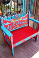 Colorful bench on Old Town Square. Albuquerque, NM.