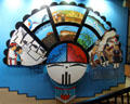 Zuni art mural at Indian Pueblo Cultural Center. Albuquerque, NM