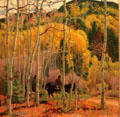 Thinning Aspens painting by E. Martin Hennings at Taos Art Museum. Taos, NM.