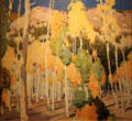 Taos Landscape Aspens & Pines painting by Victor Higgins at Taos Art Museum. Taos, NM.