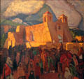 Church at Ranchos painting by Ernest L. Blumenschein at Blumenschein Home & Museum. Taos, NM.