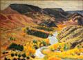 Rio Grande Valley at Rinconada painting by Helen Greene Blumenschein at Blumenschein Home & Museum. Taos, NM.