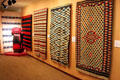 Gallery of antique native blankets at Millicent Rogers Museum. Taos, NM.