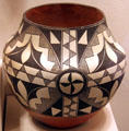 Acoma black-on-white jar at Millicent Rogers Museum. Taos, NM.