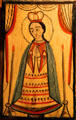 Our Lady of San Juan de los Lagos retablo by José Rafael Aragón at Millicent Rogers Museum. Taos, NM.