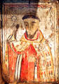St. Raymond Nonnatus retablo by Arroyo Hondo Painter at Millicent Rogers Museum. Taos, NM.