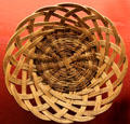 Santo Domingo Pueblo willow basket at Millicent Rogers Museum. Taos, NM.