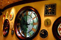 Pub with variety of decorative clocks at Wynn Las Vegas. Las Vegas, NV.