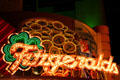 Fitzgeralds Casino sign at night on Freemont Street. Las Vegas, NV.