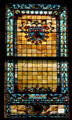 Stained glass window in House of New York State Capitol. Albany, NY.