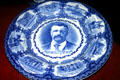 Commemorative Theodore Roosevelt plate in Inaugural Home. Buffalo, NY